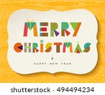 merry christmas and happy new... | Shutterstock .eps vector #494494234