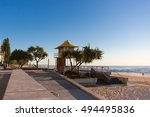 beach front esplanade at... | Shutterstock . vector #494495836