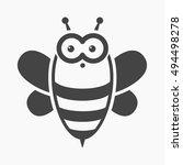 bee cartoon icon. illustration...   Shutterstock . vector #494498278