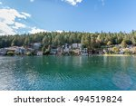 a lake in canada | Shutterstock . vector #494519824