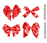 set of watercolor drawing red... | Shutterstock . vector #494520430