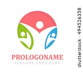 people logo | Shutterstock .eps vector #494526358