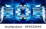 future technology  eye blue... | Shutterstock .eps vector #494533444