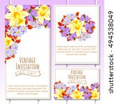 romantic invitation. wedding ... | Shutterstock . vector #494538049