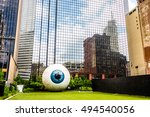 Small photo of DALLAS - CIRCA JUNE 2014: The Eye is a statue in downtown Dallas, Texas located at the Joule Hotel.