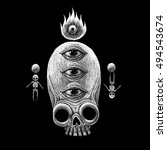 mystic symbols set. graphic... | Shutterstock . vector #494543674