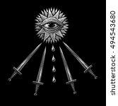 mystic symbols set. graphic... | Shutterstock . vector #494543680