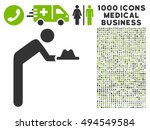 servant with hat icon with 1000 ... | Shutterstock .eps vector #494549584