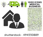 realtor icon with 1000 medical...   Shutterstock .eps vector #494550889