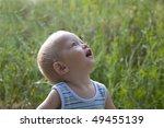 Baby Blond Boy Summer Outdoors...