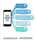 application on smartphone... | Shutterstock .eps vector #494552044