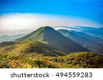 mountain landscape clouds in... | Shutterstock . vector #494559283
