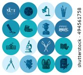 school and education icon set.... | Shutterstock . vector #494561758