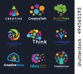 creative idea learning logo set | Shutterstock .eps vector #494565193