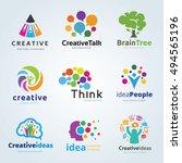 people creative idea logo set | Shutterstock .eps vector #494565196
