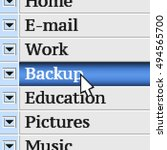 backup. my own design of...