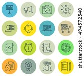 set of project management icons ... | Shutterstock .eps vector #494572540