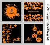 vector illustrations of orange... | Shutterstock .eps vector #494574640