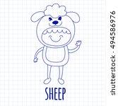 vector image of cute baby... | Shutterstock .eps vector #494586976