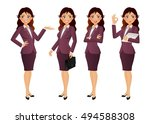 elegant people businesswoman | Shutterstock .eps vector #494588308