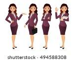 elegant people businesswoman | Shutterstock .eps vector #494588308