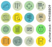 set of project management icons ... | Shutterstock .eps vector #494588809