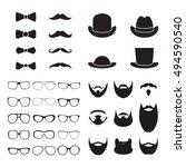 gentleman accessories icon set. ...   Shutterstock .eps vector #494590540