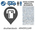 atm map pointer icon with 1000... | Shutterstock .eps vector #494591149