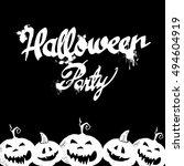 halloween pumpkin vector autumn ...   Shutterstock .eps vector #494604919