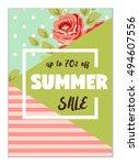 cute seasonal sale flyer... | Shutterstock .eps vector #494607556