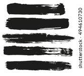 black paint banners. vector... | Shutterstock .eps vector #494610730