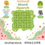 logic game for learning english.... | Shutterstock . vector #494611498