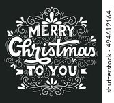 merry christmas to you. hand... | Shutterstock .eps vector #494612164