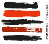 paint black and red banners.... | Shutterstock .eps vector #494612566