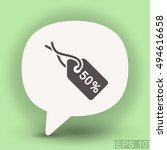 pictograph of tag | Shutterstock .eps vector #494616658