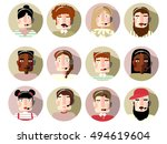 call center people | Shutterstock .eps vector #494619604