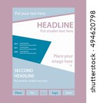 newsletter template for... | Shutterstock .eps vector #494620798