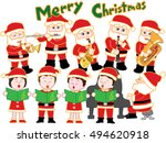 the christmas concert of santa... | Shutterstock .eps vector #494620918