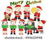 the christmas concert of santa... | Shutterstock .eps vector #494620948