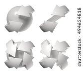 set of different arrows... | Shutterstock . vector #494624818