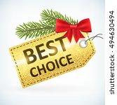 christmas golden glitter best... | Shutterstock .eps vector #494630494