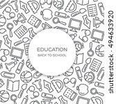 education vector background... | Shutterstock .eps vector #494633920