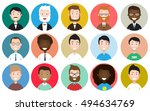 male avatar icons vector set.... | Shutterstock .eps vector #494634769