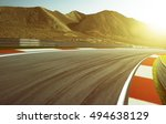 motion blurred race track . | Shutterstock . vector #494638129