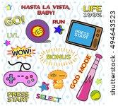 game patch set  vintage gamer...   Shutterstock .eps vector #494643523