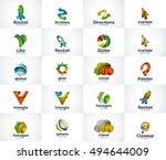 set of abstract unusual... | Shutterstock . vector #494644009