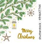 vector christmas background... | Shutterstock .eps vector #494647744