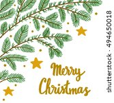 vector christmas background... | Shutterstock .eps vector #494650018