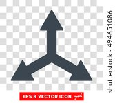 triple arrows round icon.... | Shutterstock .eps vector #494651086