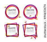 set quote frame  colorful... | Shutterstock . vector #494653474
